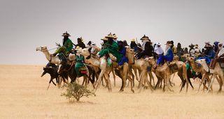 Nomads traveling